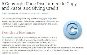 sample disclaimer template termsfeed example of legal advice disclaimer from the book designer website