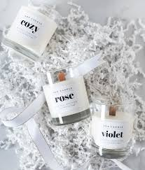 wood wick soy candle diy with able labels coco kelley