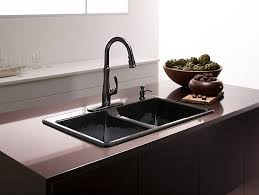 classy ideas top mount kitchen sink deerfield with four faucet holes k 5873 4