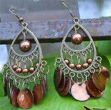 brown chandelier earrings