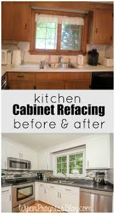 cabinet refacing before and after. Exellent Cabinet Kitchen Cabinet Refacing  A Cheaper Solution Than Ripping Out All Old  Cabinets Looks Just As Good New Cabinets Too For Before And After