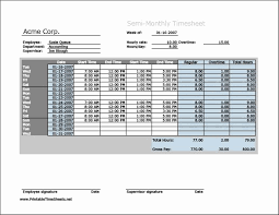 Sample Timesheets For Hourly Employees Free Monthly Timesheet Template Simple Writing Templates