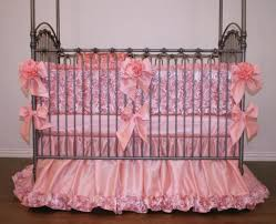 cute pink ribbon baby bedding crib sets solid steel kids bedroom furniture bedroom designs for girls