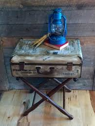 steam punk vine repurpose industrial modern antiqued weathered old nightstand