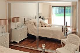 silver bevel mirror sliding doors