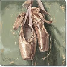 dance ballet shoes canvas print