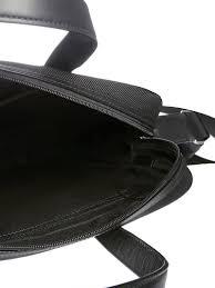 bally logo briefcase black