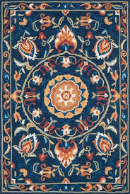 loloi francesca collection rug blue and e traditional area rugs by loloi inc