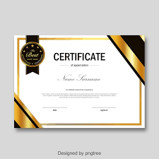 Certificate Of Honor Template Gold Fashion Simple Personal Honor Certificate Template For