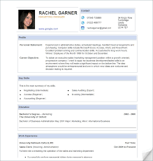 Awesome Cv Sample Template Three Blocks