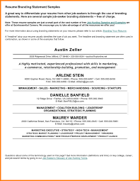 Personal Statements For Resume 6 Resumes Professional Captures