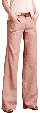 Coral Pilcro Linen Pants