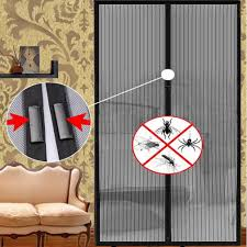 Magnetic Curtains For Doors Mesh Screen Door Magnetic Instant Hands Free Patio Bug Mosquito