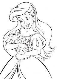 Small Picture Beautiful Ariel Coloring Games Photos New Printable Coloring