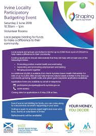 Budgeting For An Event Irvine Locality Participatory Budgeting Event 2018 Care Support