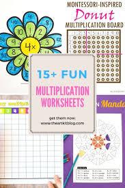 15 Fun Multiplication Worksheets The Art Kit