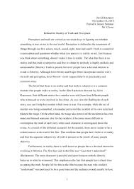 truth perception essay