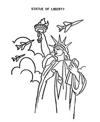 Small Picture statue of liberty coloring pages with fireworks patriotic symbols