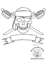 Skull And Crossbones Coloring Page So Cute For Birthdays Halloween