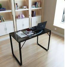 office glass desk. Home Office Desk Metal Computer PC Table WorkStation Study Glass Flat Writing UK