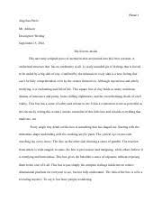 cause and effect essay angelica perez mr johnson english  1 pages descriptive writing essay