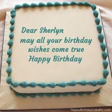 sherlyn name. write name on happy birthday cake sherlyn