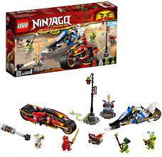 Lego Ninjago LEGONINJAGO 70667 Kais Feuer-Bike & Zanes Schneemobil: Amazon.de:  Spielzeug