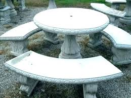 concrete patio table round outdoor furniture and benches good diy