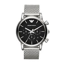 armani watches emporio armani designer watches ernest jones emporio armani men s stainless steel mesh bracelet watch product number 2219646