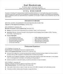 Water Resource Engineer Sample Resume