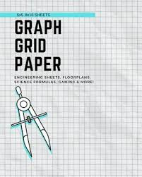 5x5 8x10 Sheets Graph Grid Paper Book For Engineering