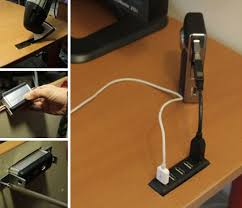 office hack. How To Hack Your Desk Hold A USB Hub Office