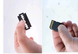 corrupted micro sd card with blade