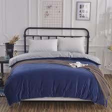 dark blue pure color duvet cover soft fashion comfortable bedding solid quilt cover twin full queen