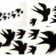 wall birds birds in cages wall stickers gold birds wall decor