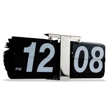 flip wall clock mechanical vintage retro for home office