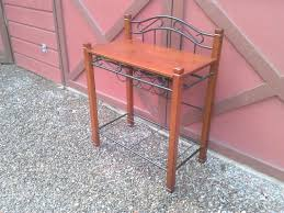 table 30 inches high. beautiful side table, 32 inches wide, 18 deep, 23 high and 41 to top. price is 49.00 table 30