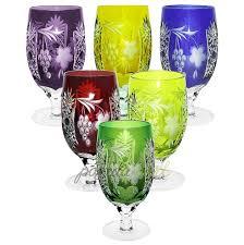 Хрустальный <b>фужер 450 мл</b> янтарный серия <b>Grape</b> Ajka Crystal 1 ...