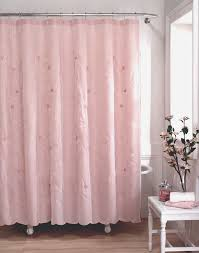 pink white and black shower curtains