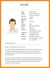 Resume Template Basic Basic Resume Templates Basic Resume Template ...