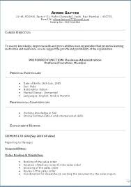 Example Of Profile In Resume Model Sample Template Example
