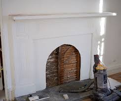 building the faux fireplace