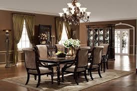 dark wood dining room set. Formal Dining Room Set Dark Brown Varnish Long Wooden Table Presenting Some Vintage Chairs Antique Ladder Back Wood