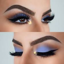 gorgeous blue shadow look by ig izzyglam use nyx cosmetics matte shadow in