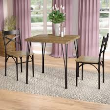 laurel foundry modern farmhouse guertin 3 piece dining set reviews wayfair
