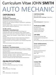 Cv Mechanic Mechanic Archives Professional Cv Zone Templates