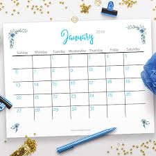 free calendar printable 2019 free printable 2019 calendar watercolor flowers a cultivated nest