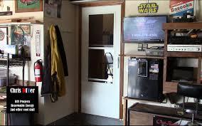 DIY garage storm door (Larson) installation - YouTube