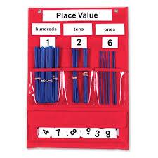 Magnetic Pocket Chart Squares Place Value Pocket Chart