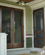 double storm doors. Double Manhattan Screen \u0026 Storm Door. Shown In Solid Poplar With Exterior Stain/urethane Doors Vintage